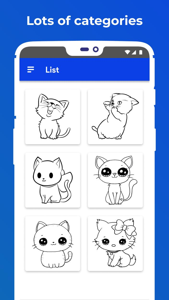 😸 How To Draw Kawaii Cat Easy Drawing Tutorials for Android ...