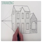 Drawing Modern House Step By Step icon