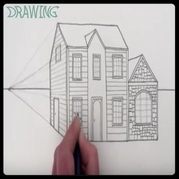 Drawing Modern House Step By Step poster