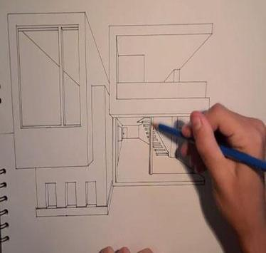 Drawing Modern House Step By Step screenshot 1