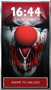 Evil Clown Phone Lock App poster