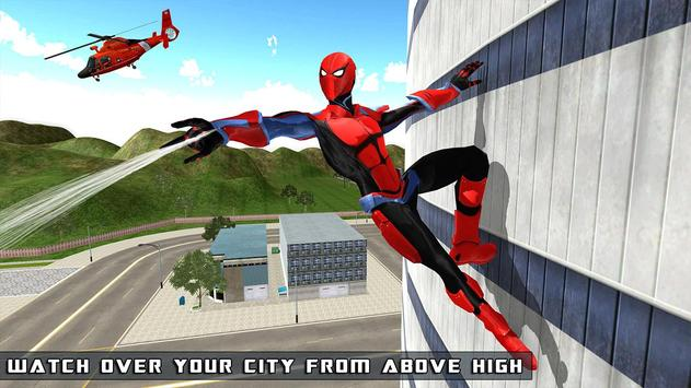Flying Spider Hero - The Super Hero Game 2018 截图 1