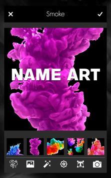 Smoke Effect Name Art Maker Editor poster