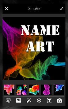Smoke Effect Name Art Maker Editor screenshot 3