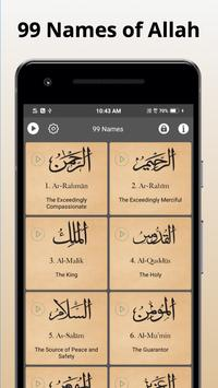 Poster 99 Names of Allah with Meaning and Audio