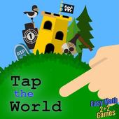 Tap the World icon