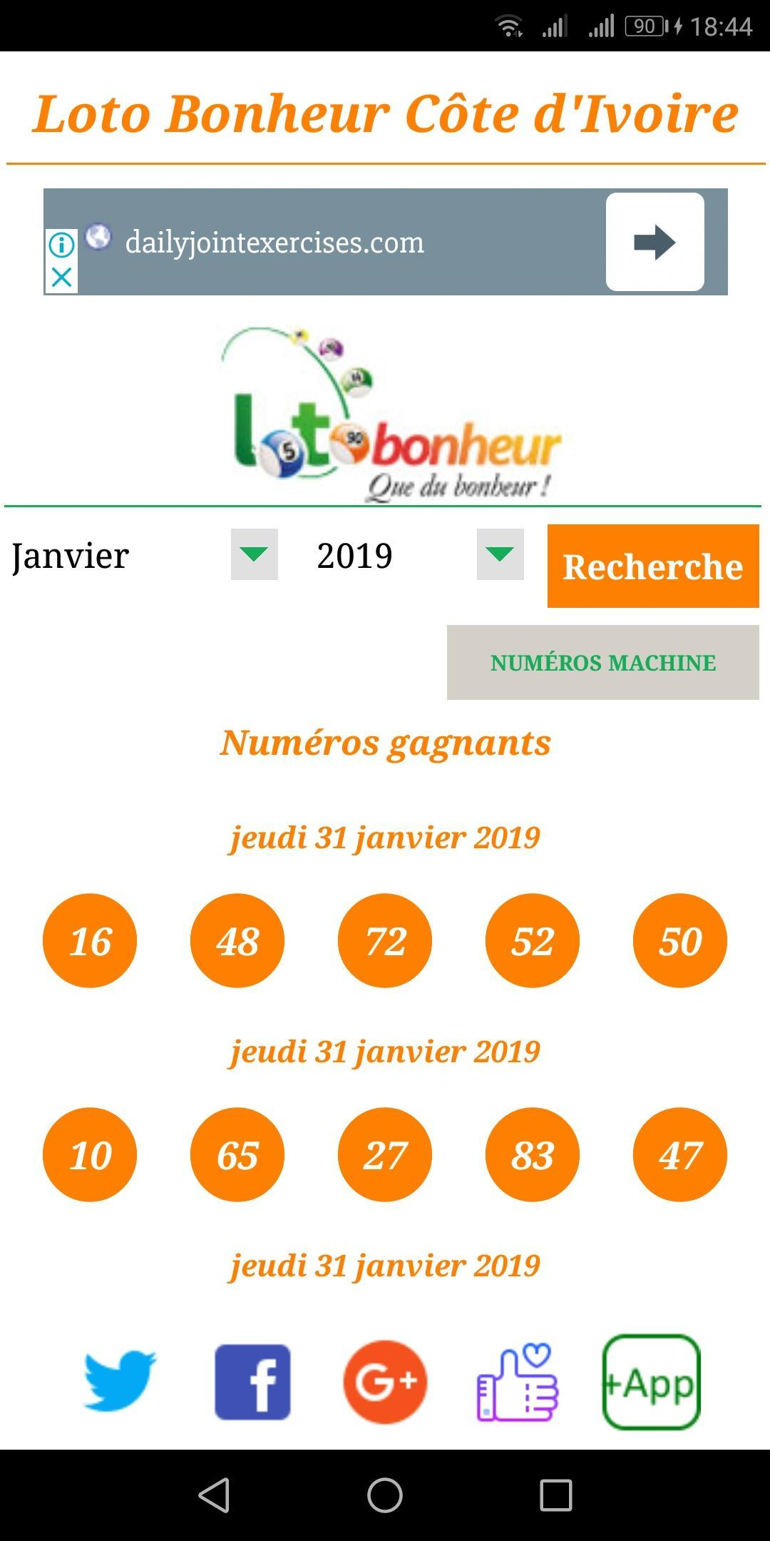 Loto Bonheur CI for Android - APK Download