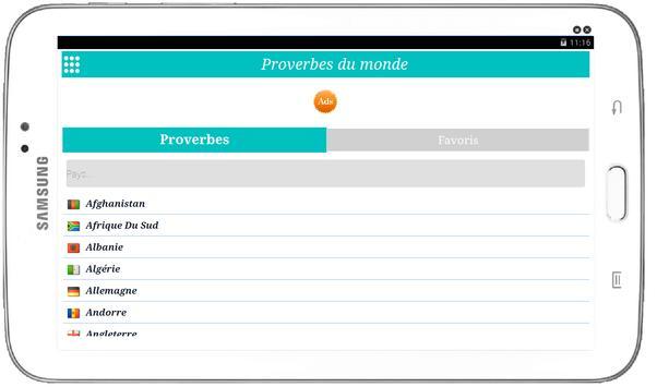 Proverbes du monde Ekran Görüntüsü 3