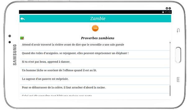 Proverbes du monde Ekran Görüntüsü 10