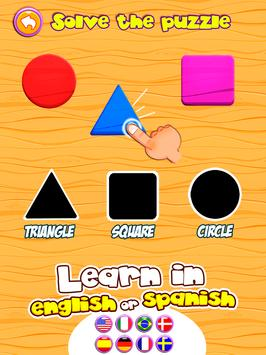 Preschool learning games for kids: shapes & colors poster