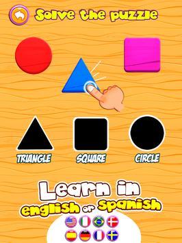 Preschool learning games for kids: shapes & colors screenshot 14