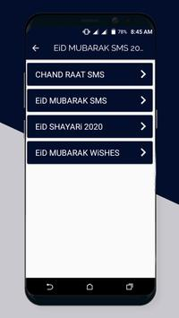Eid Mubarak Sms Messages Status 2021 screenshot 1