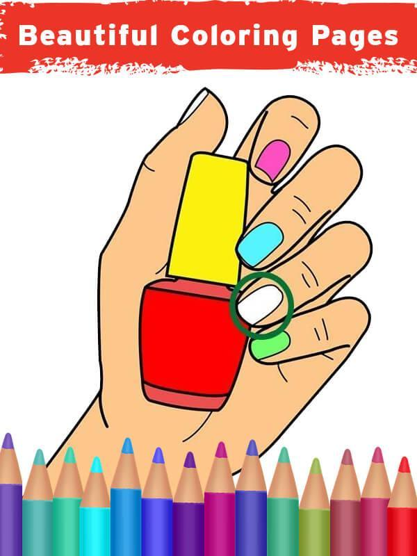 Nail Art Coloring Book Fashion Nails For Android Apk Download