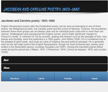 Poetries in English screenshot 1