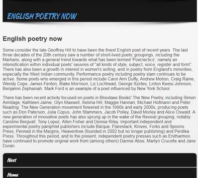 Poetries in English screenshot 2