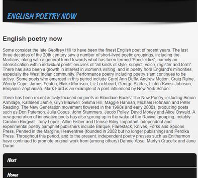 Poetries in English screenshot 5