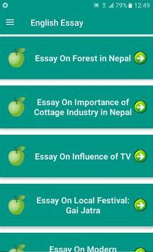 English Essay Nepal screenshot 3