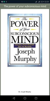 The power of your subconscious mind poster