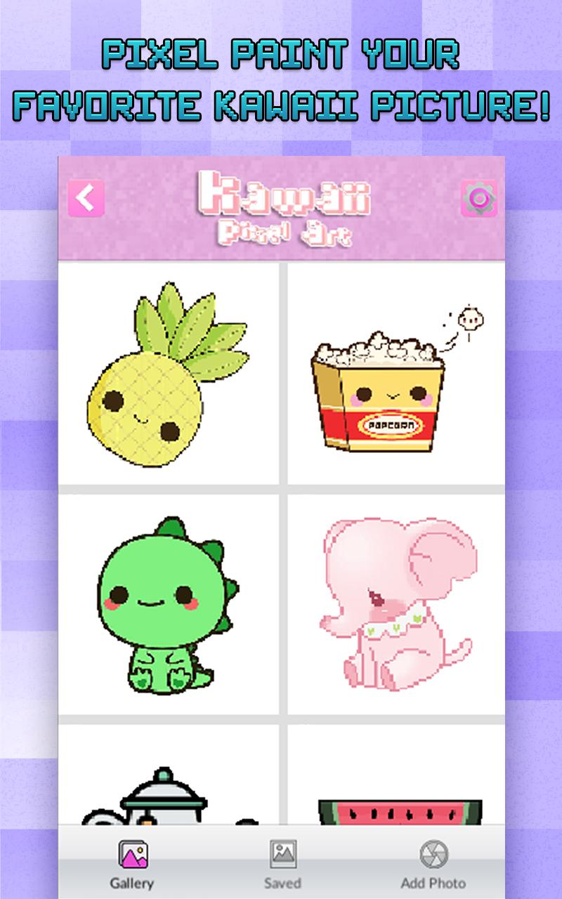Color By Number Kawaii Pixel Art For Android Apk Download