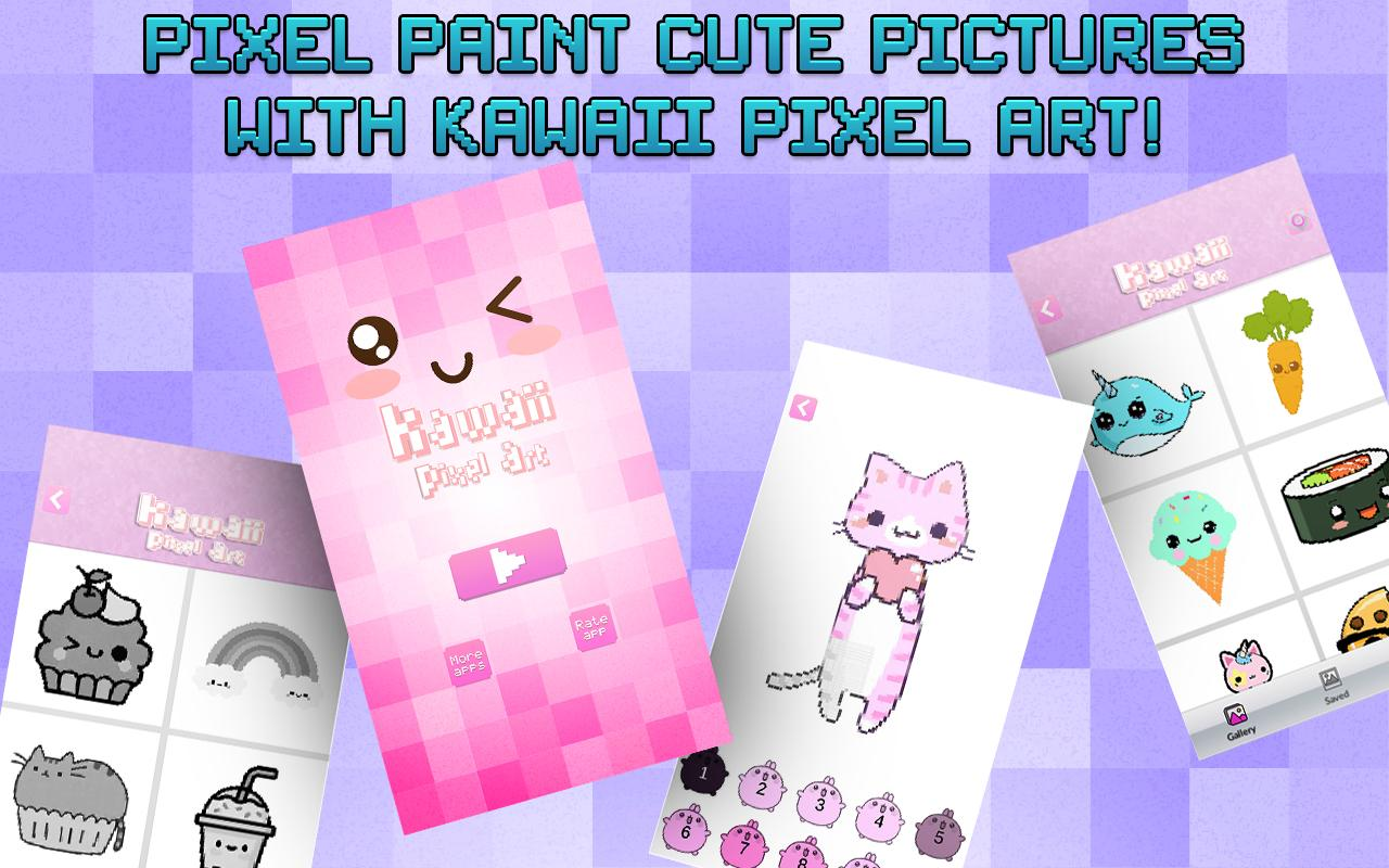Цвет По Номеру - Kawaii Пиксель Арт для Андроид - скачать APK
