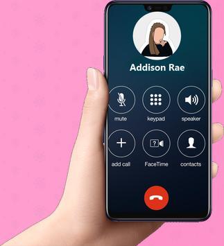 Fake call Addison Rae Prank Pro screenshot 3