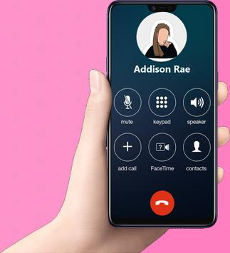 Fake call Addison Rae Prank Pro screenshot 1