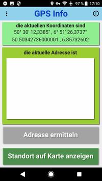 GPS Info Adressermittlung + Standortinformationen screenshot 1
