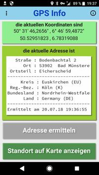 GPS Info Adressermittlung + Standortinformationen screenshot 2