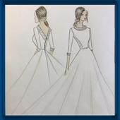 Fashion Design Sketch icon