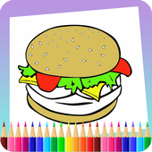 Food coloring book icon