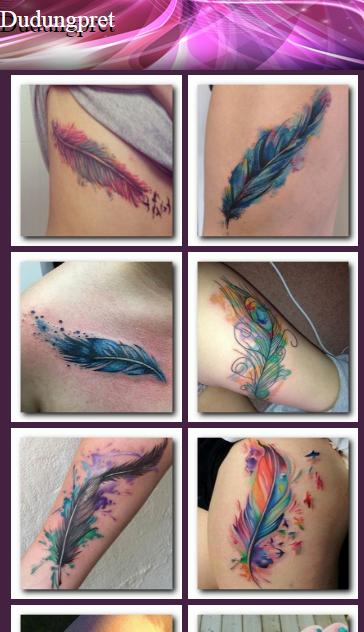 Feather Design Tattoo 3d For Android Apk Download
