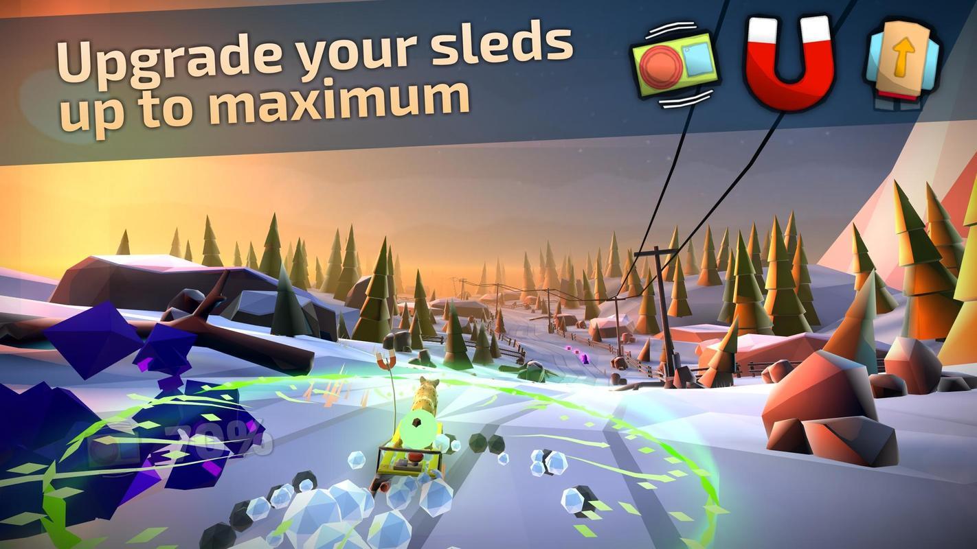 Animal Adventure: Downhill Rush تصوير الشاشة 1