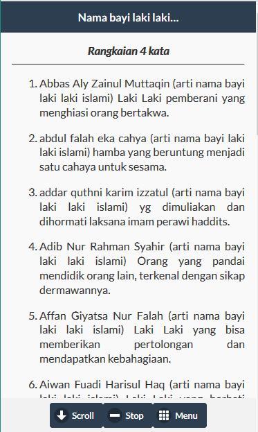 Arti Nama Laki Laki Islam for Android - APK Download