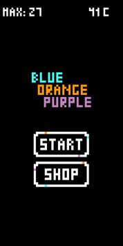 Blue Orange Purple (BOP) poster