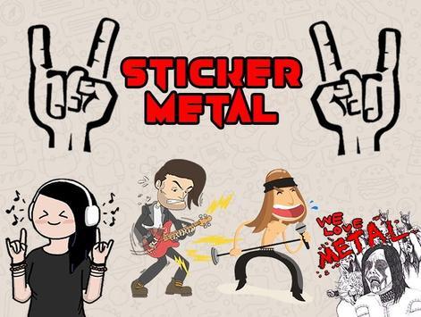 WAStickerApp Metal poster