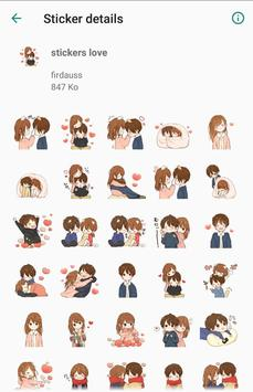 love couple stickers - WAStickerApps screenshot 1