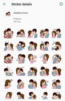 love couple stickers - WAStickerApps screenshot 2
