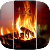 Fireplace Wallpaper video live icon
