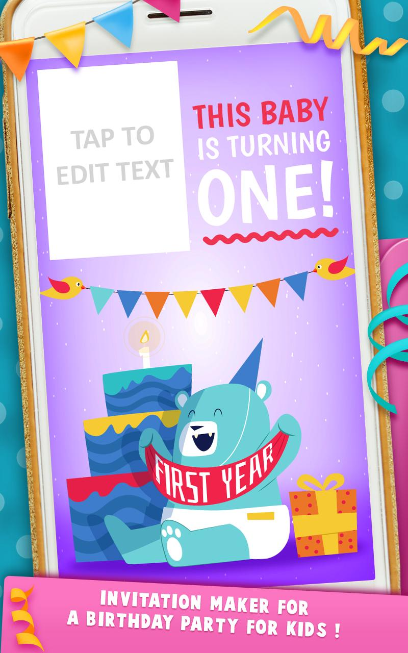First Birthday Invitation Cards For Android Apk Download