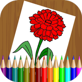 Flowers Coloring Book for Kids icon