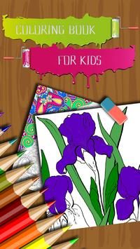 Flowers Coloring Book for Kids poster