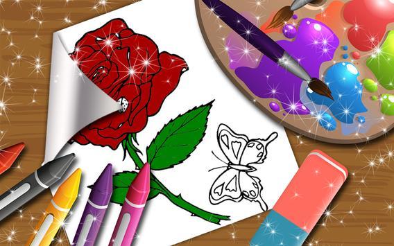 Flowers Coloring Book for Kids screenshot 7