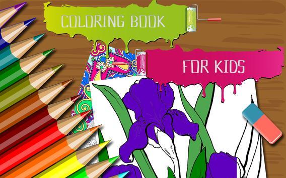 Flowers Coloring Book for Kids screenshot 5