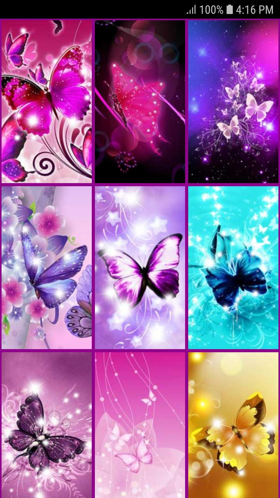 Glitter Butterfly Wallpaper For Android Apk Download