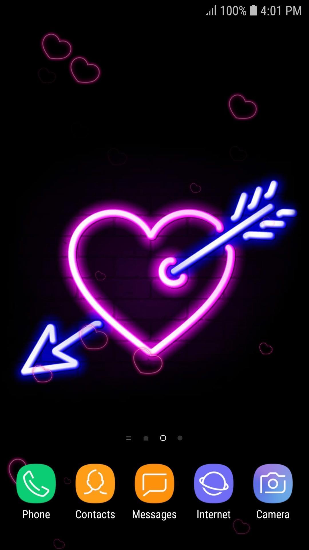Coeur Neon Fond D Ecran Anime Pour Android Telechargez L Apk
