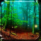 الغابات خلفية حية أيقونة