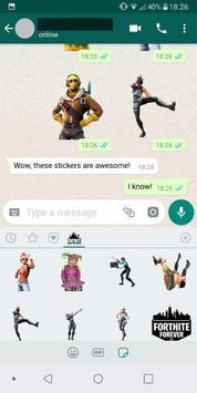 WAStickerApps - Fortnite Stickers captura de pantalla 1