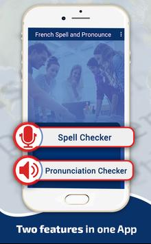 French Word Spellings & Pronunciation Checker poster