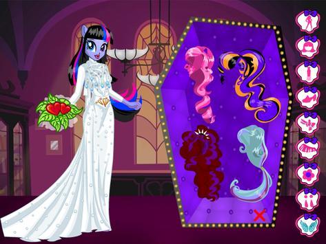 Monster Pony Bride : Dress Up Game screenshot 6