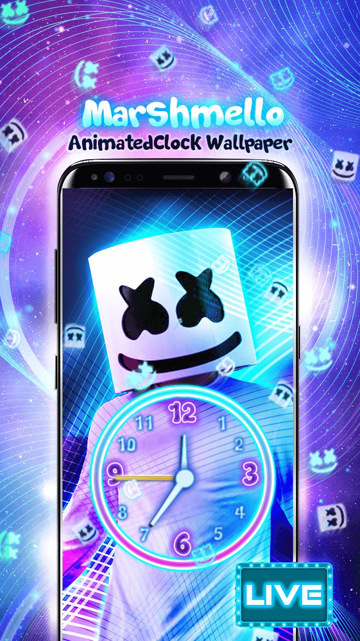 Marshmello Wallpaper Jam Animasi For Android Apk